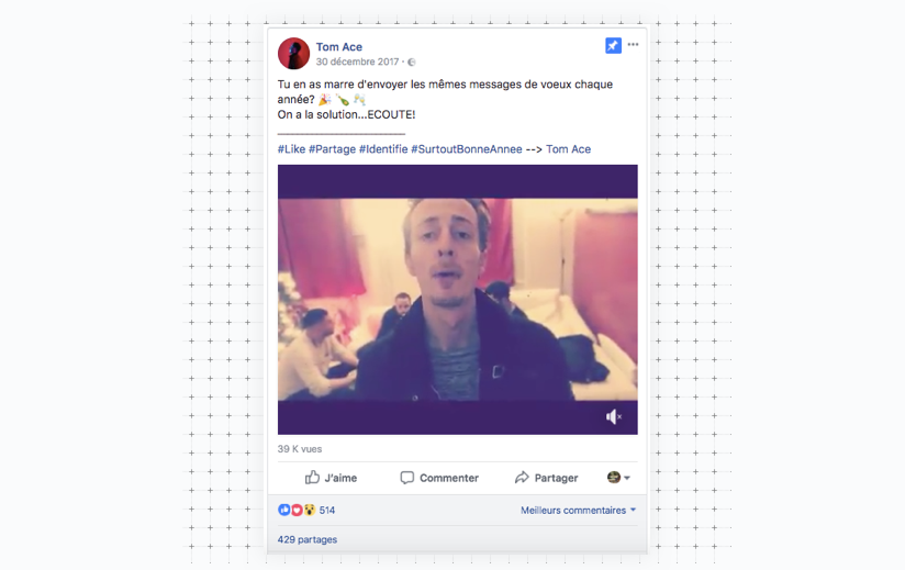 Tom Ace video nouvel an
