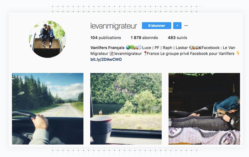 Instagram Le Van migrateur